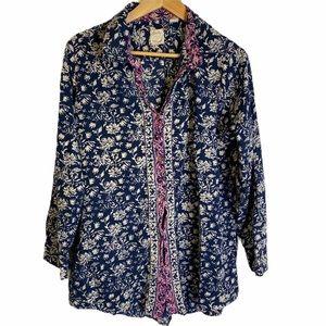 Lucky Brand Button Down Collar Shirt Soft Comfy